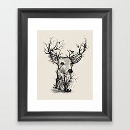 Wild Buck Framed Art Print