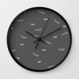 Aquarius Pattern Wall Clock