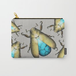 Turquoise Beetle Carry-All Pouch