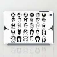 superheroes iPad Cases featuring Superheroes pictograms by Snesh