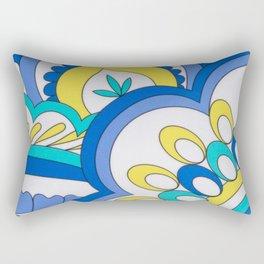 MOD BLUE PAISLEY PATTERN by gail sarasohn Rectangular Pillow