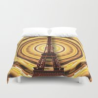 eiffel Duvet Covers featuring Eiffel Tower by Elena Indolfi