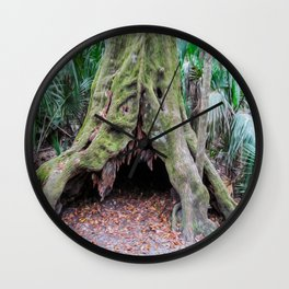 Interesting Tree Trunk Wall Clock