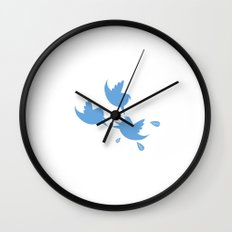 angry social birds Wall Clock