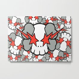 KAWS - Star Skull WallDevil Metal Print