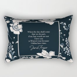 When the day shall come that we do part... Jamie Fraser Rectangular Pillow