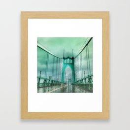 St John's Bridge Portland Oregon Framed Art Print