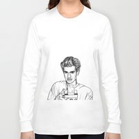 garfield Long Sleeve T-shirts featuring Andrew Garfield by Sharin Yofitasari