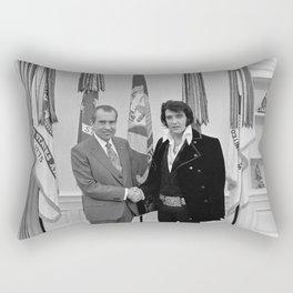 Elvis And Richard Nixon Rectangular Pillow