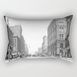 Walnut St., Kansas City, Mo. 1906 Rectangular Pillow