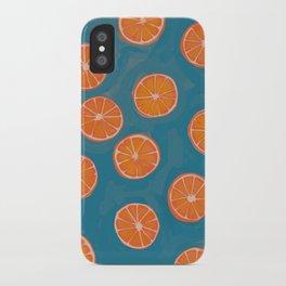 hand-painted california orange slices iPhone Case