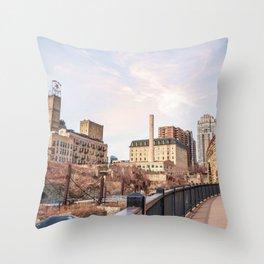 Stone Arch Bridge-Minneapolis Minnesota Photography Throw Pillow