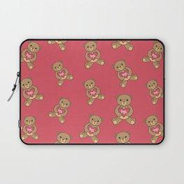 Cute Bear Heart Love Anniversary Relationship  Laptop Sleeve