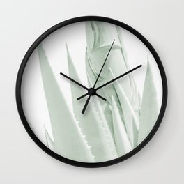 """Agave Abstract 6"" Botanical Art by Murray Bolesta Wall Clock"