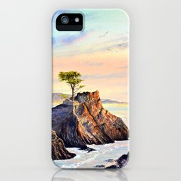 Pebble Beach Lone Cypress Tree iPhone Case
