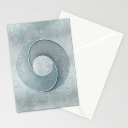 Geometrical Line Art Circle Distressed Teal Stationery Cards