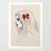 bow Art Prints featuring Bow. by shugmonkey