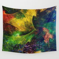 blanket Wall Tapestries featuring Blanket of Stars 2 by Klara Acel