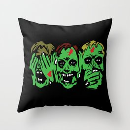 3 Zombies Throw Pillow