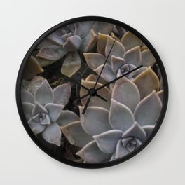 Stone Flowers Wall Clock