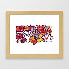 愛 - LOVE Framed Art Print