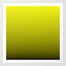 Cats Eye Yellow and Black Deadly Ombre Nightshade Art Print
