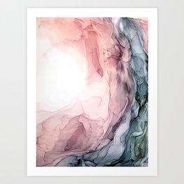 Blush and Blue Dream 1: Original painting Art Print