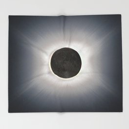 Total Eclipse by  OLena Art Throw Blanket