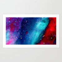 Glitter abstract III Art Print