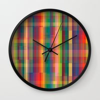 cracked Wall Clocks featuring Cracked by datavis/pwowk