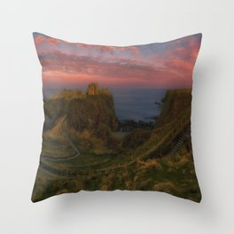 Fort On The Shelving Slope Throw Pillow
