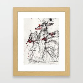 Frothing Framed Art Print