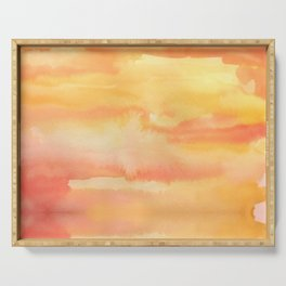 Apricot Sunset Serving Tray