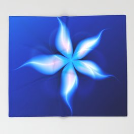 La Fleur Magique de la Sorcière Fractal Throw Blanket