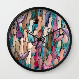 cool mermaids Wall Clock