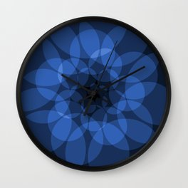 blue circles Wall Clock