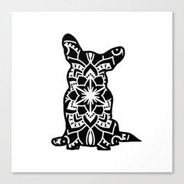 Corgi Mandala Canvas Print