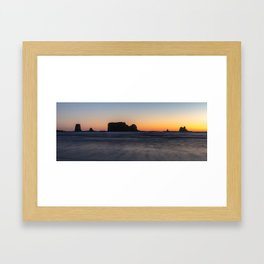 Second Beach Framed Art Print