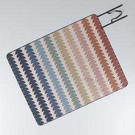 Maude Pattern- Vintage Multicolor Picnic Blanket
