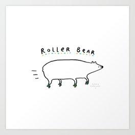 Roller Bear Art Print