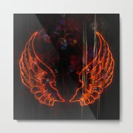 Abstract Wings Metal Print