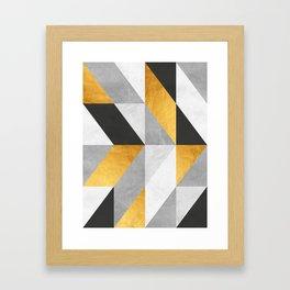 Golden Geometric Art Framed Art Print