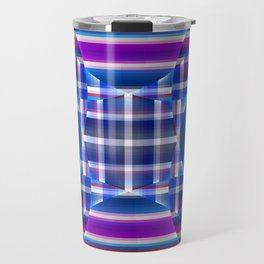 Modern geometric pattern, fractal abstract Travel Mug