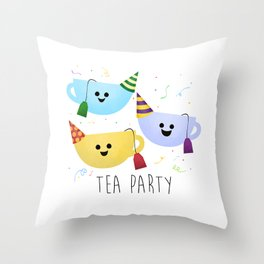Tea Party Throw Pillow