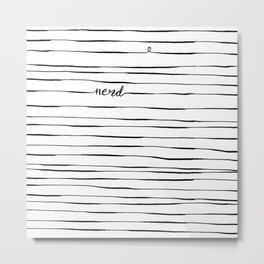 Love Nerd Metal Print