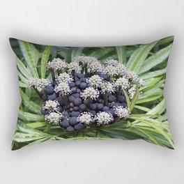 Green Aralia bush Rectangular Pillow