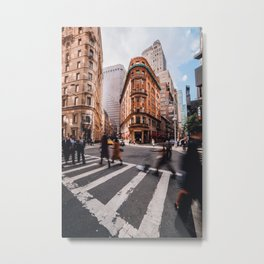 Afternoon Rush in Downtown Manhattan Metal Print