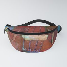 Violin Abstract Two Fanny Pack