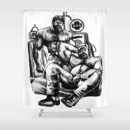 MuscleBearGas Shower Curtain