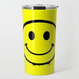 smiley face rave music logo Travel Mug